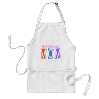 Retro World's Greatest Mom Adult Apron