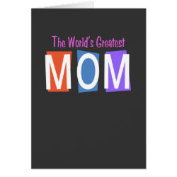 Greeting Card with Retro World's Greatest Mom design