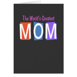 Retro World's Greatest Mom Cards