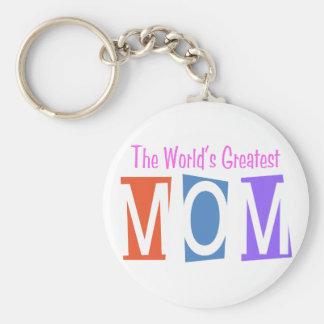 Retro World's Greatest Mom Key Chain