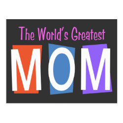Retro World's Greatest Mom Postcard