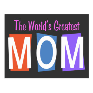 Retro World's Greatest Mom Post Cards