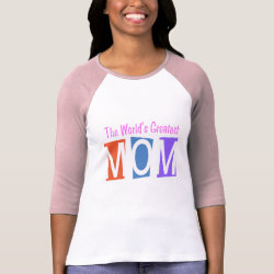 Ladies Raglan Fitted T-Shirt with Retro World's Greatest Mom design