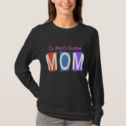 Women's Basic Long Sleeve T-Shirt with Retro World's Greatest Mom design