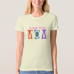 Women's American Apparel Organic T-Shirt with Retro World's Greatest Mom design