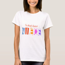 Women's Basic T-Shirt with Retro World's Greatest Niece design