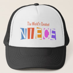 Trucker Hat with Retro World's Greatest Niece design