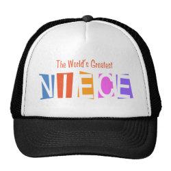 Trucker Hat with Retro World's Greatest Niece design