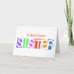 Retro World's Greatest Sister Standard Card
