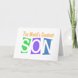 Retro World's Greatest Son Standard Card