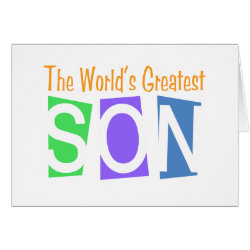 Retro World's Greatest Son Greeting Card