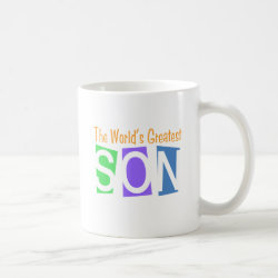 Classic White Mug with Retro World's Greatest Son design