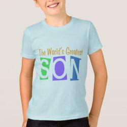 T-Shirt with Retro World's Greatest Son design