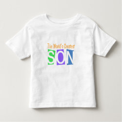 Toddler Fine Jersey T-Shirt with Retro World's Greatest Son design