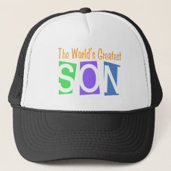 Trucker Hat with Retro World's Greatest Son design