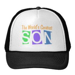 Trucker Hat with Retro World's Greatest Son design