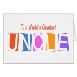Greeting Card with Retro World's Greatest Uncle design