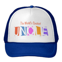 Trucker Hat with Retro World's Greatest Uncle design
