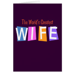 Retro World's Greatest Wife Greeting Card