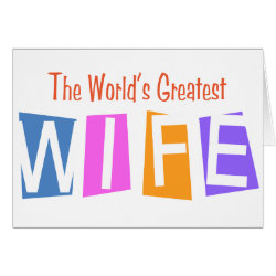 Greeting Card with Retro World's Greatest Wife design