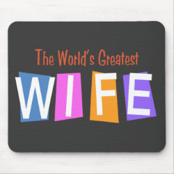 Mousepad with Retro World's Greatest Wife design