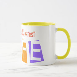 Combo Mug with Retro World's Greatest Wife design