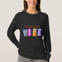 Women's Basic Long Sleeve T-Shirt with Retro World's Greatest Wife design
