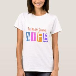 Women's Basic T-Shirt with Retro World's Greatest Wife design