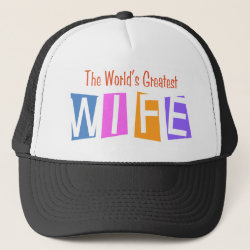 Trucker Hat with Retro World's Greatest Wife design