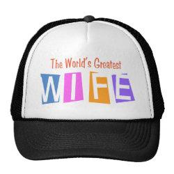 Trucker Hat with Retro World's Greatest Wife design