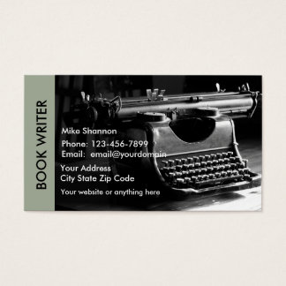 Retro Writer Theme Business Card