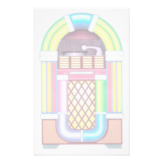 Retro Wurlitzer Style Jukebox Music Stationery