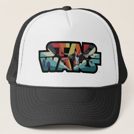 Retro X-Wing Starburst Star Wars Logo Trucker Hat
