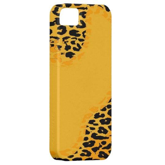 Retro yellow and black leopard print skin iPhone SE/5/5s case