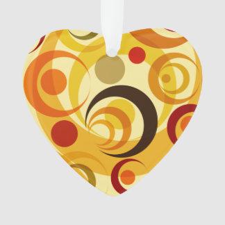 Retro yellow and orange circles ornament
