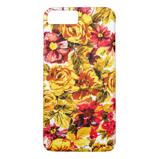 Retro yellow and red flowers iPhone 7 plus case