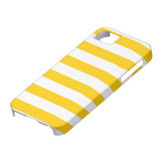Retro Yellow and White Stripes Pattern iPhone SE/5/5s Case