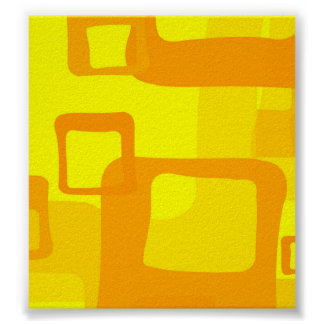 Retro Yellow Background Poster