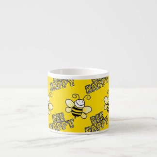Retro Yellow Bumble Bee Pattern Espresso Cup