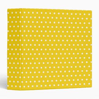 Retro Yellow Dot Binder
