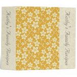 Retro Yellow Floral Custom Recipe/Photo Binder