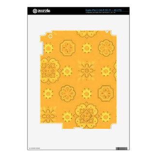 Retro Yellow Gold Decals For iPad 3