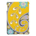 Retro yellow paisley motif custom case for the iPad mini