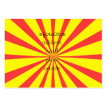 Retro Yellow & Red Background Business Cards