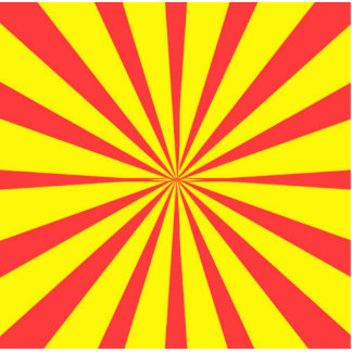 Retro Yellow & Red Background Cutout