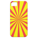 Retro Yellow & Red Background iPhone 5 Cases