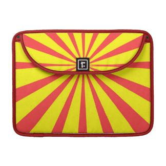Retro Yellow Red Background Sleeves For MacBooks