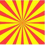 Retro Yellow & Red Background Photo Cut Out