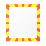 Retro Yellow & Red Background Scratch Pads