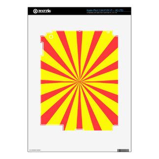 Retro Yellow & Red Background iPad 3 Decals